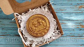"""Шоколадна Медаль """"Улюбленої Виховательці"""" 40 грам в упаковці"""