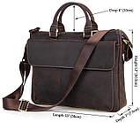 Шкіряна чоловіча сумка європейської якості Vintage 14161 Коричнева, фото 2