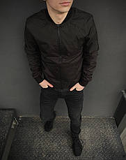 Размеры S-2XL   Мужская куртка бомбер Flash Black Черная, фото 3