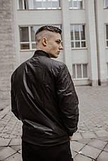 Размеры S-2XL   Мужская куртка бомбер Flash Black Черная, фото 2