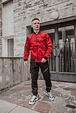 Розміри S-2XL | Чоловіча куртка бомбер Flash Red Червона, фото 3
