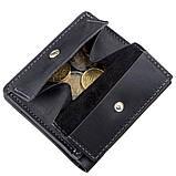 Оригинальное портмоне унисекс с накладной монетницей GRANDE PELLE 11222 Черное, фото 2
