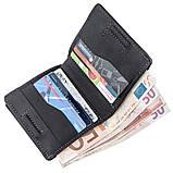 Оригинальное портмоне унисекс с накладной монетницей GRANDE PELLE 11222 Черное, фото 3