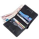 Оригинальное портмоне унисекс с накладной монетницей GRANDE PELLE 11222 Черное, фото 4