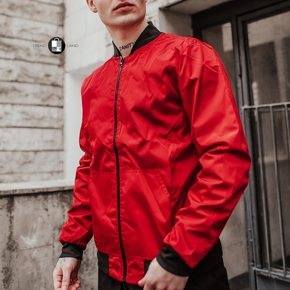 Размеры S-2XL | Мужская куртка бомбер Flash Red Красная