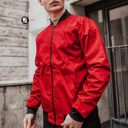 Размеры S-2XL | Мужская куртка бомбер Flash Red Красная, фото 2
