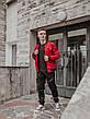 Размеры S-2XL | Мужская куртка бомбер Flash Red Красная, фото 3