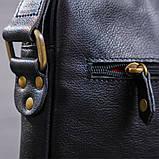 Чоловіча шкіряна сумка SHVIGEL 19111 Чорна, фото 3