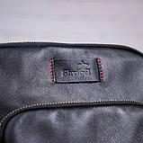 Чоловіча шкіряна сумка SHVIGEL 19111 Чорна, фото 5