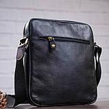 Чоловіча шкіряна сумка SHVIGEL 19111 Чорна, фото 6