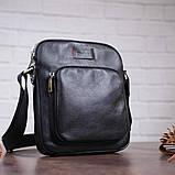 Чоловіча шкіряна сумка SHVIGEL 19111 Чорна, фото 7