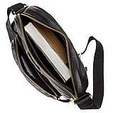 Чоловіча шкіряна сумка SHVIGEL 19111 Чорна, фото 9
