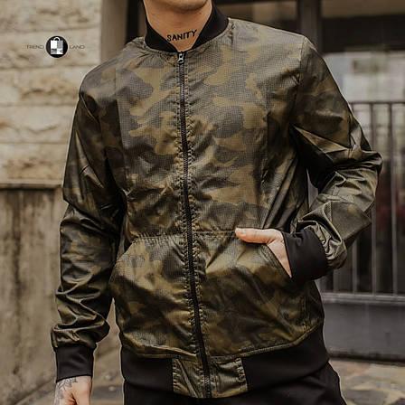 Размеры S-2XL   Мужская куртка бомбер Flash Сamouflage Камуфляж, фото 2