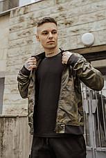 Размеры S-2XL   Мужская куртка бомбер Flash Сamouflage Камуфляж, фото 3