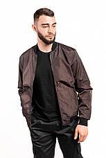 Размеры S-2XL | Мужская куртка бомбер Flash Brown Коричневий, фото 2