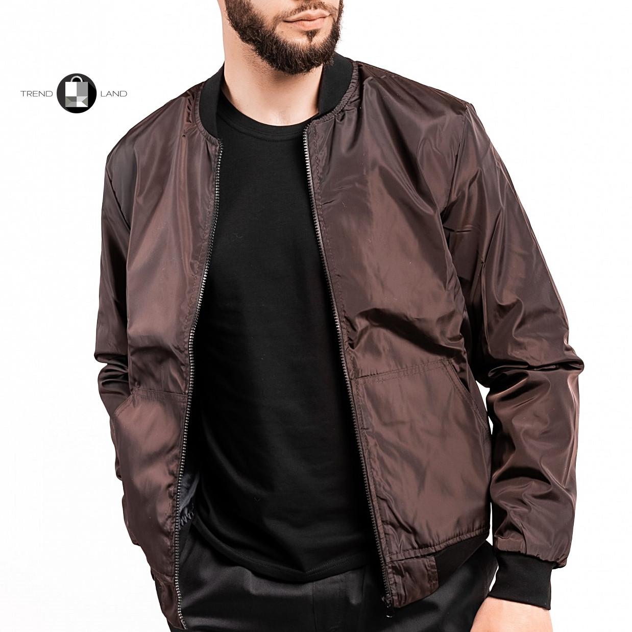 Розміри S-2XL | Чоловіча куртка бомбер Flash Brown Коричневий