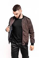 Розміри S-2XL | Чоловіча куртка бомбер Flash Brown Коричневий, фото 2