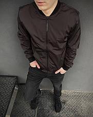 Розміри S-2XL | Чоловіча куртка бомбер Flash Brown Коричневий, фото 3