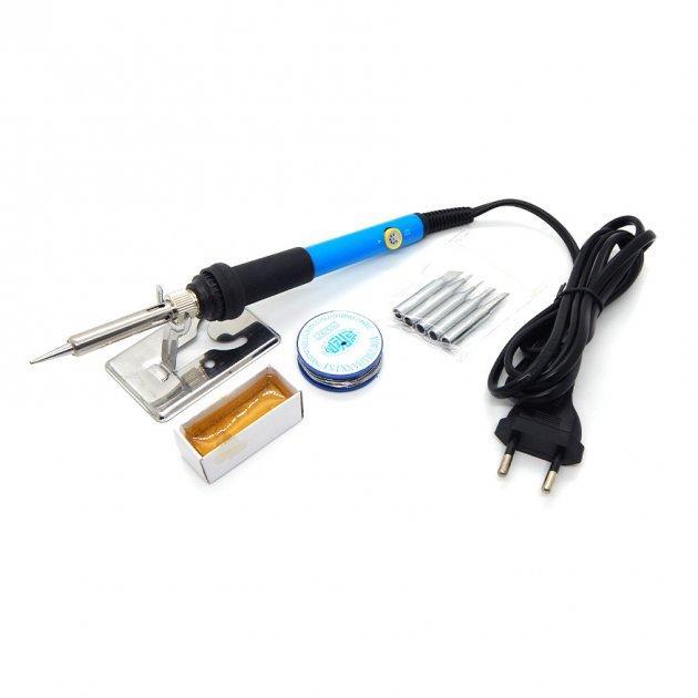 Набір паяльник електричний 60Вт + олово, каніфоль, підставка, 5 тис