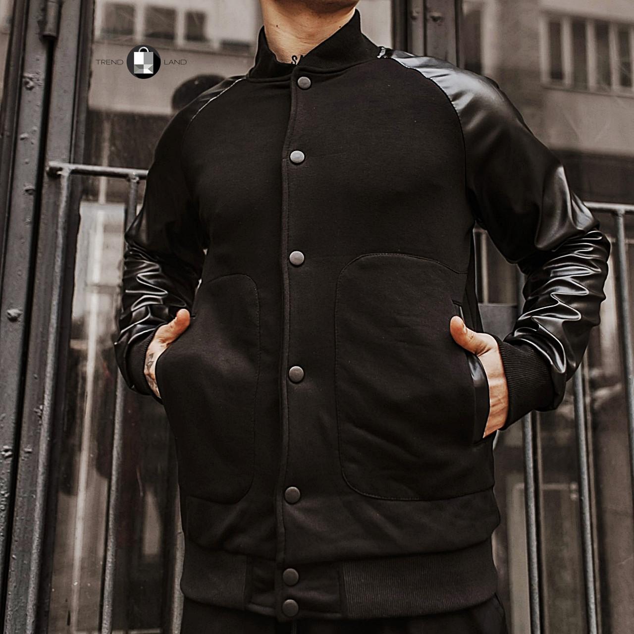 """Розміри S-2XL   Чоловіча куртка бомбер """"Re-balance"""" Black"""