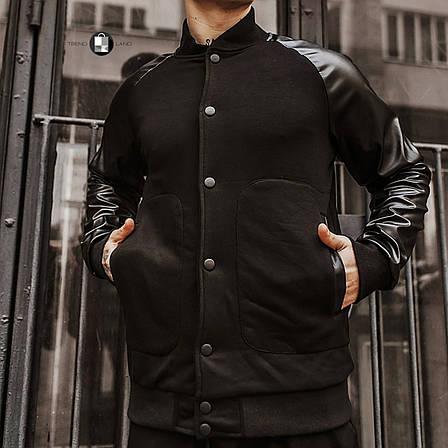 """Розміри S-2XL   Чоловіча куртка бомбер """"Re-balance"""" Black, фото 2"""