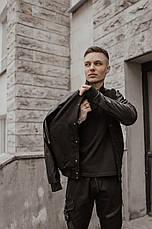 """Розміри S-2XL   Чоловіча куртка бомбер """"Re-balance"""" Black, фото 3"""