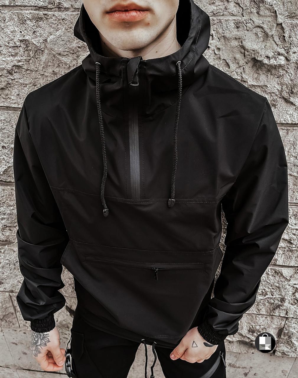 "Размеры S-2XL | Мужская куртка анорак Intruder ""Segment 19"" Black"
