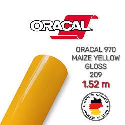Жовта глянцева плівка Oracal 970 Maize Yellow Gloss 209