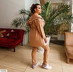 Жіночий прогулянковий костюм трійка: майка кардиган і штани (Батал), фото 3