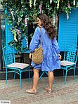 Жіноче коттоновое однотонне плаття (Батал), фото 2