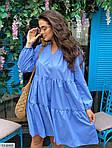 Жіноче коттоновое однотонне плаття (Батал), фото 8
