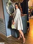 Жіноче коттоновое однотонне плаття (Батал), фото 10