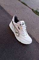 Підліткові дитячі білі шкіряні кросівки 36 - 39 р-р, фото 1