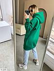 Жіноче худі вільного крою з капюшоном (Батал), фото 6