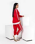 Спортивний костюм жіночий з імітацією сорочки (Батал), фото 5