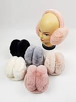 Дитячі хутряні навушники для дівчаток оптом, фото 1