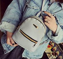 Компактний жіночий рюкзак ПУ шкіра Aliri-00051 сірий