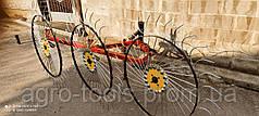 Грабли ворошилки Солнышко на 3 колеса (спица 6 мм) для  минитрактора (3Т)