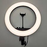 Кольцевая лампа RL-18 II 512 LED со штативом чехлом и пультом Кольцевое освещение для съемки набор блогера, фото 2
