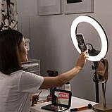 Кільцева лампа RL-18 II 512 LED зі штативом чохлом і пультом Кольцевое освітлення для зйомки набір блогера, фото 4