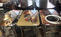 """У нас є ті, що Вам так до вподоби😍 Яскраві та стильні скляні обідні столики знову в наявності❤ ТЦ """"Росана"""""""