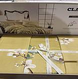 Комплект Постільної Білизна Сатин Люкс Двоспальне Євро 200*220 см Туреччина Clasy alvin-v2, фото 2