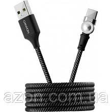 Дата кабель USB 2.0 AM to Type-C 1.0 m Rotating magnetic Black CANYON (CNS-USBC8B)