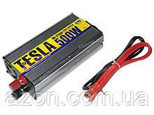 Преобразователь напряжения 12V-220V 500W модиф. волна/USB-5VDC0.5A/прикуриватель/клеммы