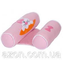 Пеленальний матрацик Sevi Bebe валик -позиціонер для сну, рожевий (8692241433208)