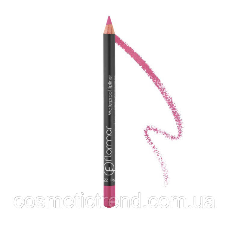 Олівець для губ водостійкий Flormar Waterproof lipliner #228
