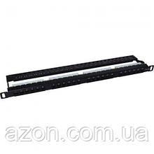 """Патч-панель 19"""" 24xRJ-45 UTP cat.5e, 0.5 U, with cable organizer Molex (KD-PP46-UTP-C5e-24P-0.5 U)"""