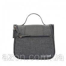 Дорожній підвісний органайзер для косметики Travel bag Grey