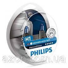 Автолампа Philips H1 Diamond Vision, 5000K, 2шт (12258DVS2)