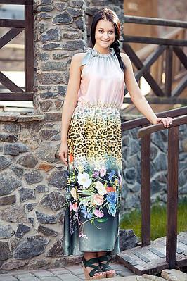 Купить платье-сарафан с ярким рисунком. Модель  Милена